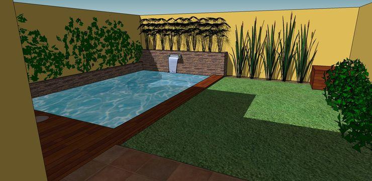 CC arquitectos Rustic style pool
