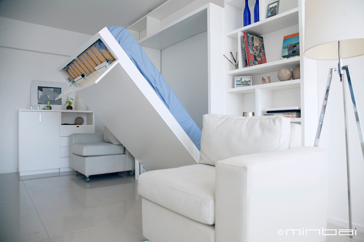 MinBai BedroomBeds & headboards Kayu White