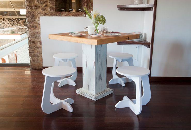 TABUHOME KuchniaStoły i krzesła Drewno Biały