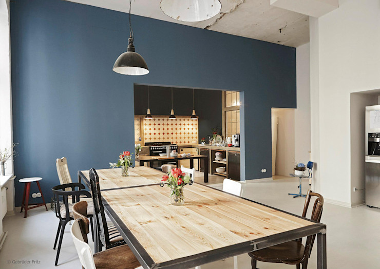 homify Modern dining room Blue