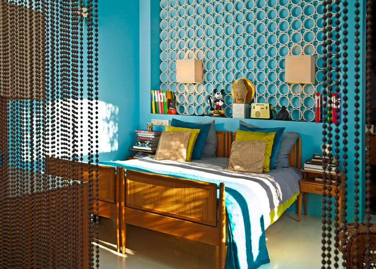 Schlafzimmer im Retro-Stil Baltic Design Shop Ausgefallene Schlafzimmer Mehrfarbig