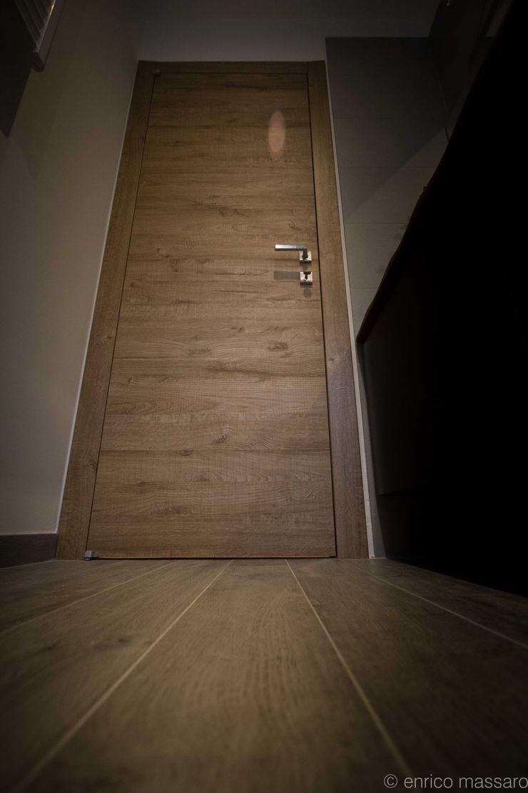 enrico massaro architetto Modern walls & floors Wood-Plastic Composite Wood effect