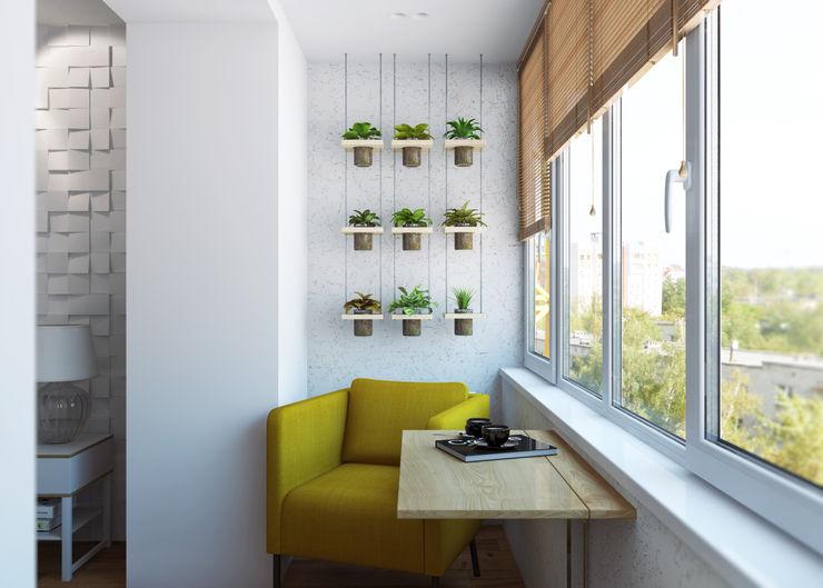 3D GROUP Balcones y terrazas de estilo minimalista