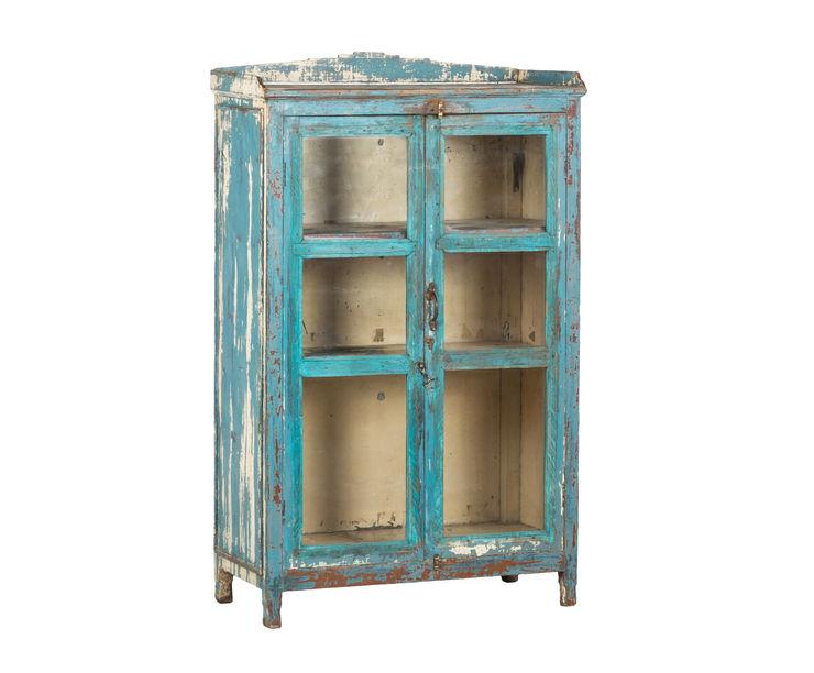 Mueble de apoyo vintage turquesa Ladies and Gentleman SalasAlacenas y cajoneras Madera Turquesa