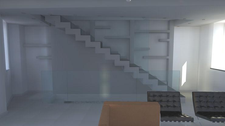 Realizzazioni Sergio Guastella STUDIO97 Pasillos, vestíbulos y escaleras de estilo moderno