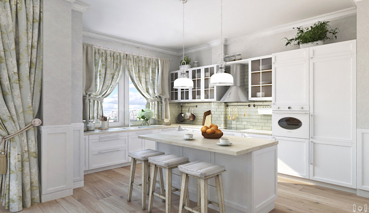 1+1 studio Classic style kitchen