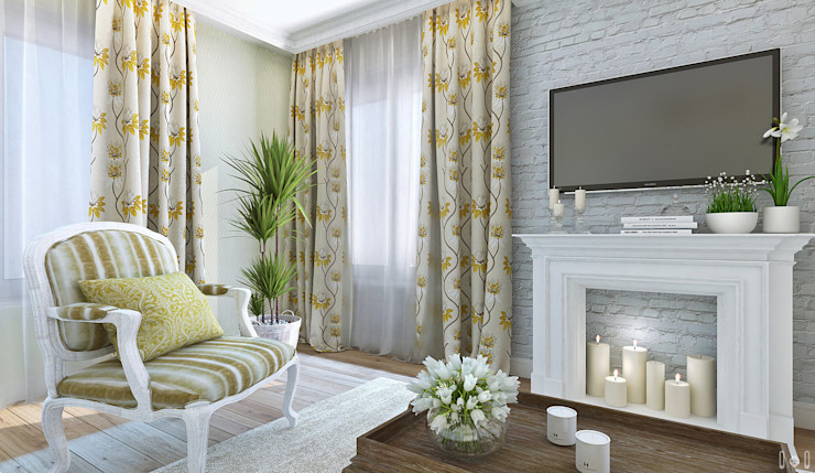 1+1 studio Classic style living room