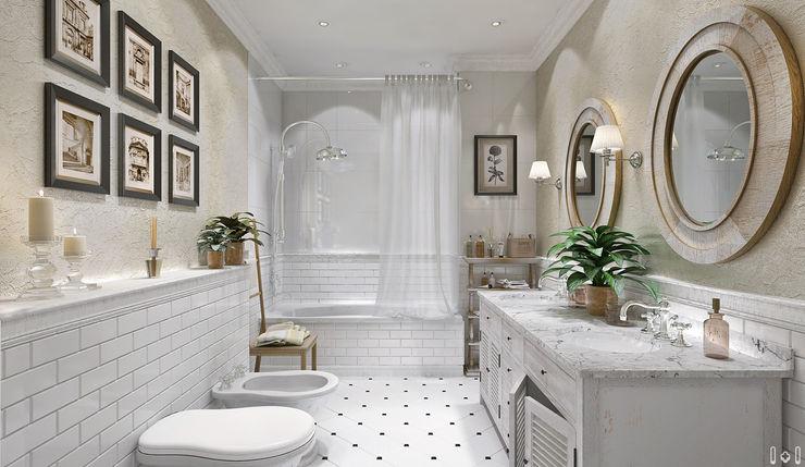 1+1 studio Classic style bathroom