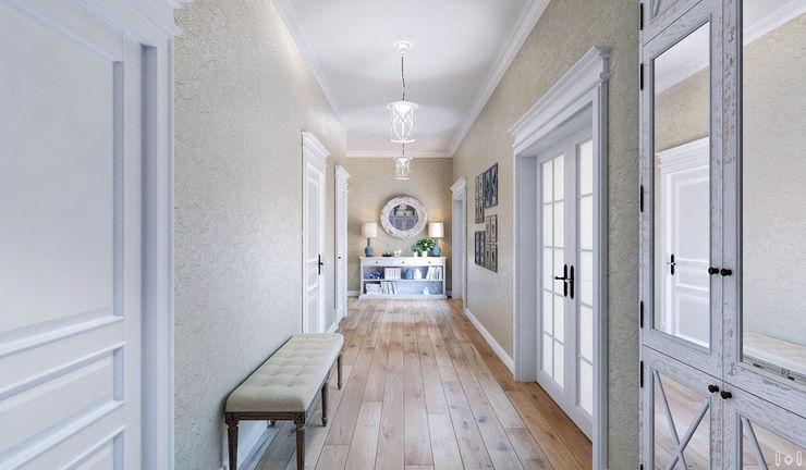 1+1 studio Classic style corridor, hallway and stairs