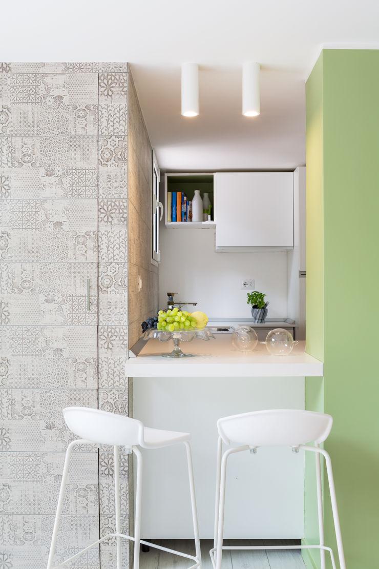 Maurizio Giovannoni Studio Кухня в стиле минимализм Зеленый