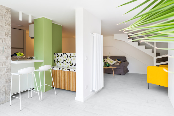 Maurizio Giovannoni Studio Коридор, прихожая и лестница в стиле минимализм Зеленый