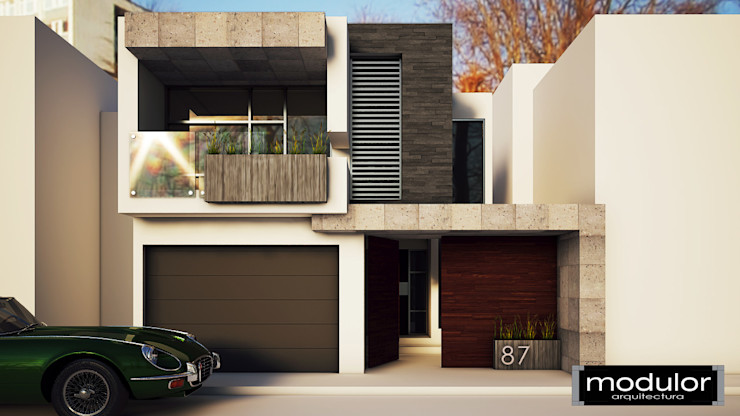 Modulor Arquitectura Modern houses Slate Beige