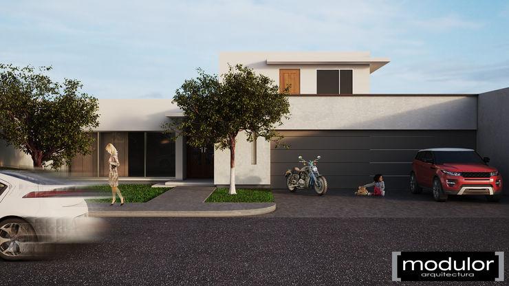 Modulor Arquitectura Minimalistische Häuser Beton Weiß