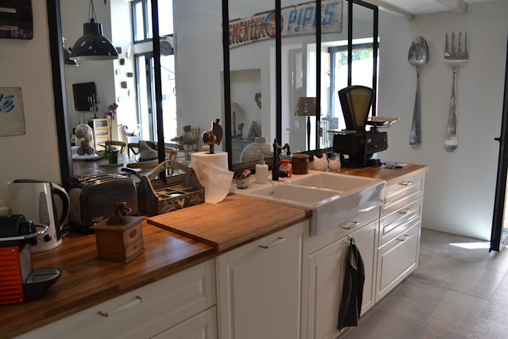 Courants Libres Industrial style kitchen