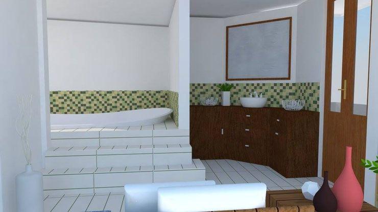 Trianaarquitectos Modern style bathrooms