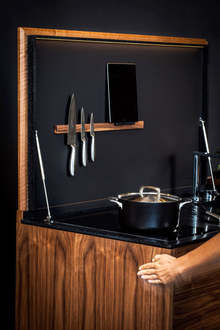 Charlotte Raynaud Studio CocinaIluminación Madera