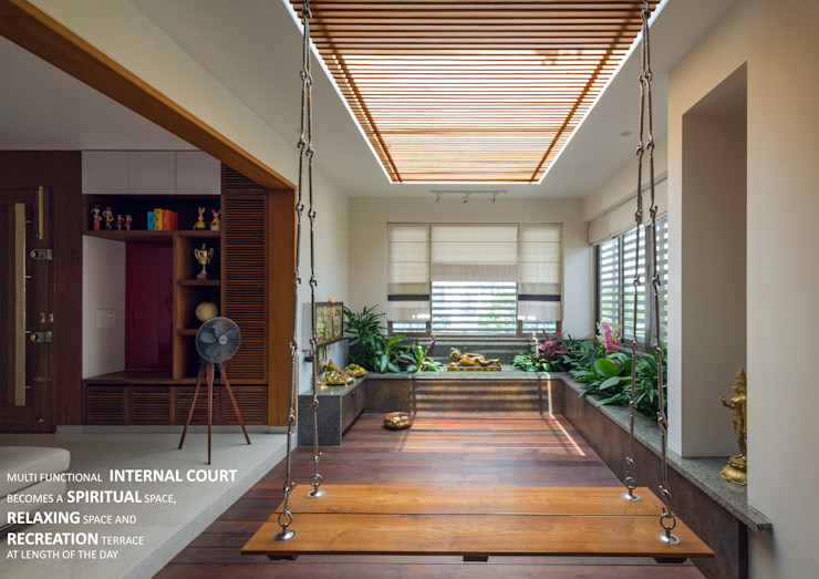 Internal Court 4site architects Asian style garden Solid Wood Brown