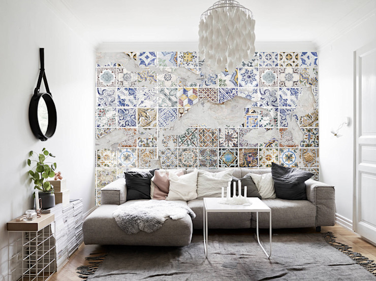 Creativespace Sartoria Murale Eclectic walls & floors