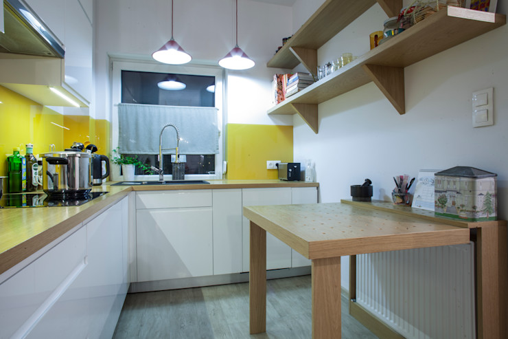 Patyna Projekt Cozinhas modernas Vidro Amarelo
