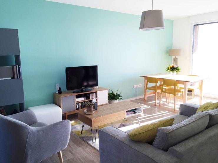 Mint Design Salas de estilo escandinavo Turquesa