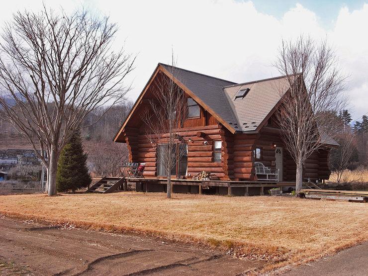 Log Cabin beside Japan Alps Cottage Style / コテージスタイル Maisons rurales Bois Effet bois