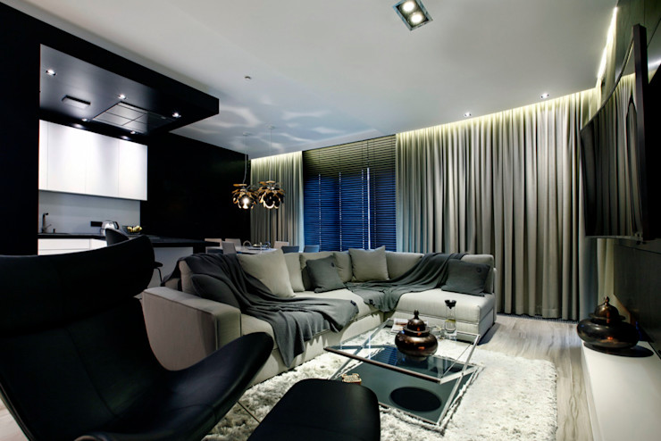 FLOW Franiak&Caturowa Ruang Keluarga Modern