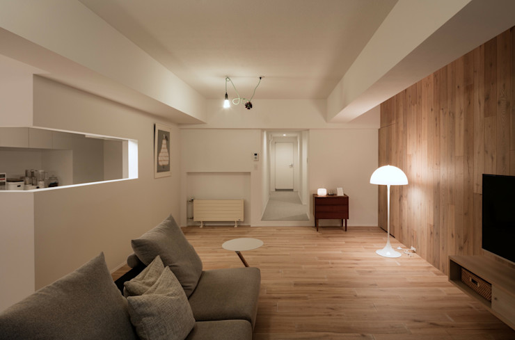 一色玲児 建築設計事務所 / ISSHIKI REIJI ARCHITECTS Eclectic style living room