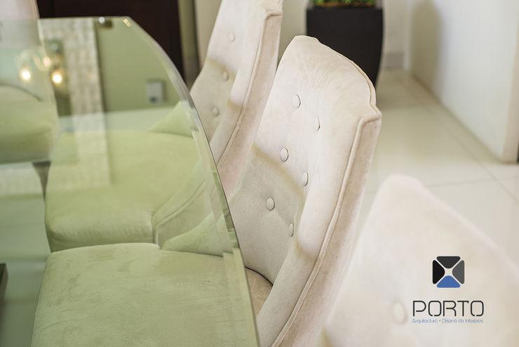 PORTO Arquitectura + Diseño de Interiores Eclectic style dining room
