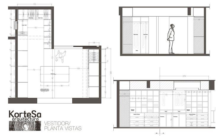 Planos Vestidor KorteSa arquitectura Vestidores eclécticos