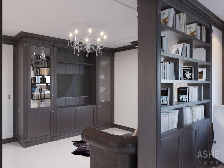 Студия авторского дизайна ASHE Home Oficinas y bibliotecas de estilo clásico