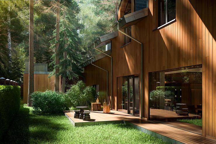 Modern Eco-house in Zhukovka. Design studio of Stanislav Orekhov. ARCHITECTURE / INTERIOR DESIGN / VISUALIZATION. Дома в стиле модерн