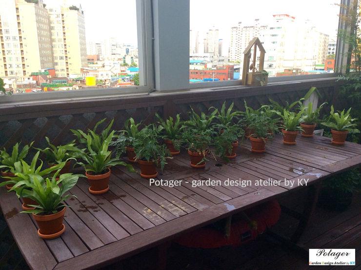 Potager Hiên, sân thượng phong cách kinh điển Green
