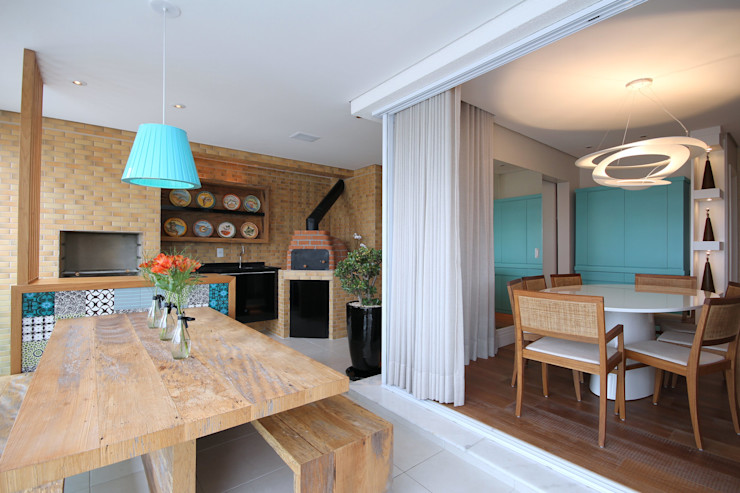MeyerCortez arquitetura & design Modern balcony, veranda & terrace