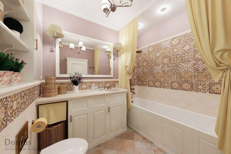 Белый Эскиз Country style bathroom Ceramic Purple/Violet