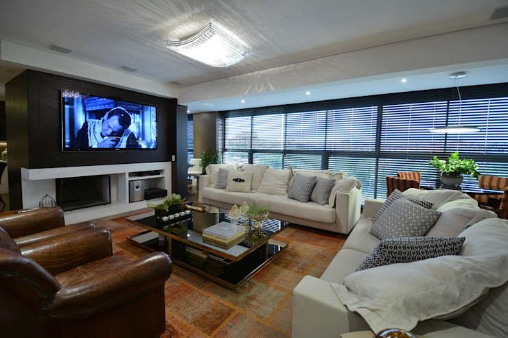 Marcelo Minuscoli - Projetos Personalizados 现代客厅設計點子、靈感 & 圖片