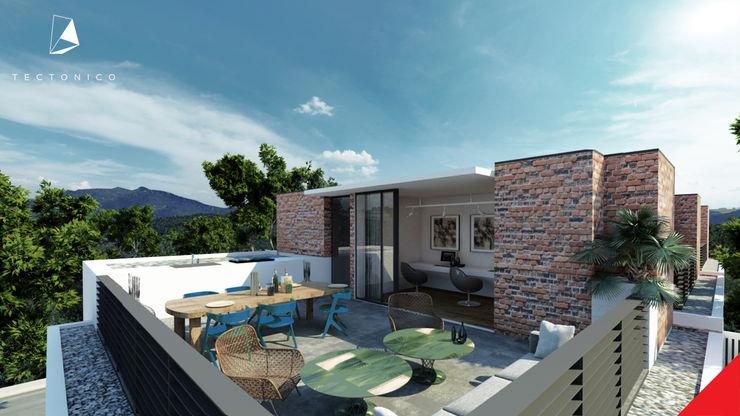 Tectónico Balcones y terrazas de estilo minimalista