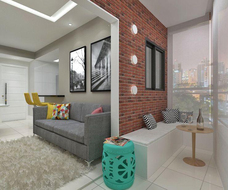 Marcos Assmar Arquitetura | Paisagismo Modern balcony, veranda & terrace