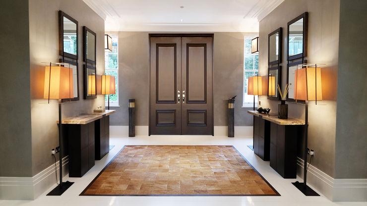 Private Villa, Surrey Keir Townsend Ltd. Modern corridor, hallway & stairs
