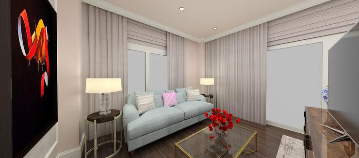 F.G. EVİ Kerim Çarmıklı İç Mimarlık Modern Oturma Odası