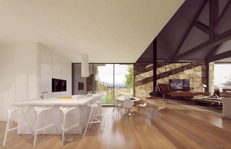 Davide Domingues Arquitecto Rustic style kitchen