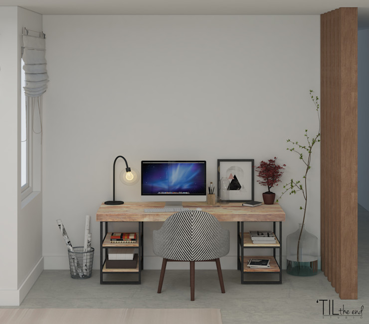 homify Study/office Concrete Grey