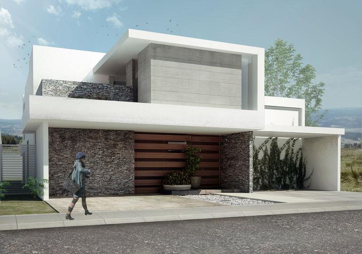 RESIDENCIA CUMBRES TAQ arquitectura Casas minimalistas Piedra Blanco