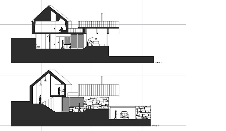 Davide Domingues Arquitecto Rustic style houses