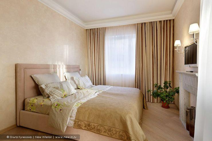 Квартира с террасой «Черное золото» Ольга Кулекина - New Interior Спальня в классическом стиле