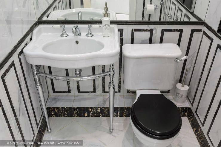 Квартира с террасой «Черное золото» Ольга Кулекина - New Interior Ванная в классическом стиле
