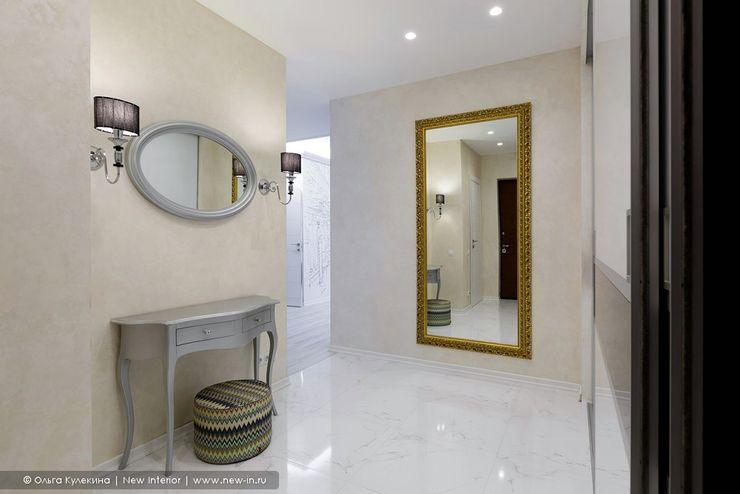 Квартира с террасой «Черное золото» Ольга Кулекина - New Interior Коридор, прихожая и лестница в стиле минимализм