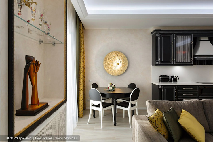Квартира с террасой «Черное золото» Ольга Кулекина - New Interior Кухня в классическом стиле