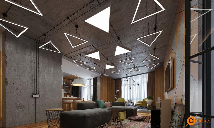 Artichok Design Salones de estilo industrial