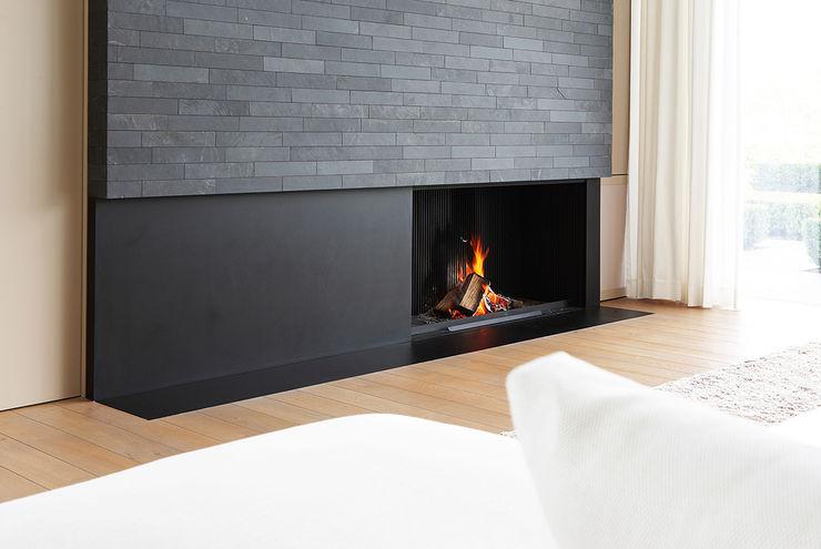 Lareiras Metalfire - Universal Lenha (Sem Vidro) Biojaq - Comércio e Distribuição de Recuperadores de Calor Lda Salas de estar modernas