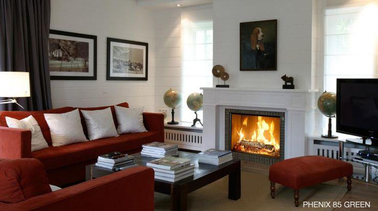 Phenix 85Green - Bodart&Gonay Biojaq - Comércio e Distribuição de Recuperadores de Calor Lda Salas de estar modernas